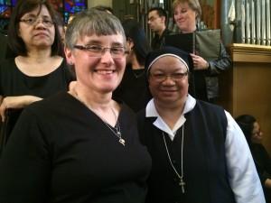 Carol and Therma at Chrhism mass 2016